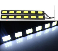 BMW   Free Shipping! 2pair 2 x 6 LED 36W Power COB Daytime Running Light DRL Car LED Fog Driving Lamp Aluminum Chip Bar Panel