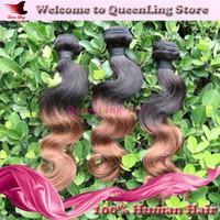 5A Brazilian Human Hair Body Wave Under $30 Two 2 Tone 1b 30 Body Wave 5A Grade Virgin Hair Peruvian Brazilian Malaysian Ombre Hair Hot Sale 3 Bundle Remy Hair Weaves Nice Hair Weft