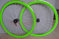 Wholesale C Fixed Gear Wheels Aluminum Alloy Bicycle Rims mm Rims Front and Rear Fixie Bicycle Wheelset Bike Parts