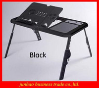 China (Mainland) Stock Double Fans Wholesale-OP-Free Shipping Hot Computer Radiator Notebook Bed Folding Table Stents Radiator Desk Cooler USB Radiator For Laptop