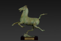 Wholesale High Quality Grafts Bronze Copper Ware Colloection Of the antique statue of Horse Stepping on a Swallow Home Decoration Business Gift