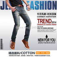 Wholesale The new men s jeans Straight leg Cultivate one s morality type Pencil Pants Youth pop European and American style trend In