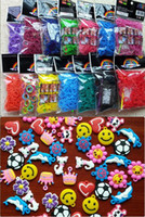 Link, Chain Children's Gift best-toys Rainbow loom rubber bands charms Silicone Rubber Bands package 600 pcs + 24 S + 1 hook and free gift Kids Pendant