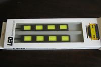 4 LED White 12V Free Shipping!2Sets 2 x 4 LED 24W Power COB Daytime Running Light DRL Car LED Fog Driving Lamp lamp Aluminum Chip Bar Panel