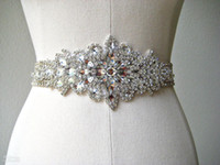 rhinestone wedding belt - Custom Made Exquisite Heavy Beading Rhinestone Crystals Wedding Belt For Bridal Wedding Accessory Wedding Sashes