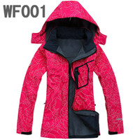 Wholesale 2015 Womens Brand New Fleece Waterproof Softshell Outdoor ladies jacket Color fashion fleece Hoodie Coat Mix Women SoftShell