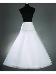 2019 in Stock Cheap White A-Line Petticoats for Wedding Dresses 1 Hoop Crinoline Bridal Gowns Wedding Accessories
