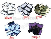Wholesale 250PCS Strip glass mirror mosaic color Handmade accessories Craft material Mosaic art Wall decals x2x0 cm