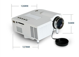 Wholesale Portable Mini HD LED Projector Cinema UC28 Projector Theater PC Laptop VGA USB SD AV input x