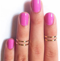 Cluster Rings Unisex  m654 freeshipping Band Midi Ring Urban Gold stack Plain Cute Above Knuckle Ring