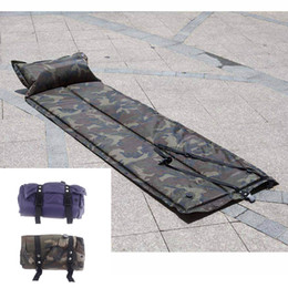 Wholesale New Automatic Inflatable Sleeping Pad Moisture proof Tent Mat with Pillow Cushion for Outdoor Camping CP Camouflage Blue H11351