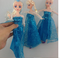 Wholesale 2014 Movie Toys Frozen Doll Sparkle Princess Elsa Doll cm Newest Best Gift for kids Christmas Gifts