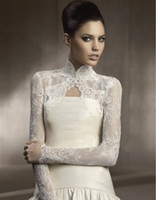 best bolero jacket - Stunning New Lace Wedding Wraps Jackets Bridal With Long Sleeves High Neck See Through W20140032 Best Made Top Selling