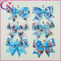 Wholesale 30 quot Baby Ribbon Hair Bow Frozen Hair Bow For Baby Boutique Frozen Hair Bows with clips for girls CNHBW