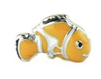 Wholesale 20pcs cute fish Charm Floating Charms For Glass Lockets