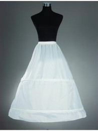 Cheap! 2019 New in Stock White 2 Hoop A-Line Petticoats for Wedding Dresses Crinoline for Bridal Gowns Wedding Accessories