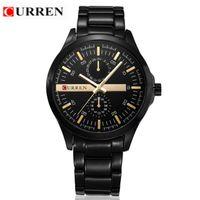 Fashion Unisex Quartz-Battery Luxury Quality CURREN Brand 8128 Japan Movement Quartz sports watches full Steel band Wrist Watch Men Business Clock Military Casual Watches