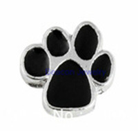 Wholesale 20pcs cat paw Charm Floating Charms For Glass Lockets