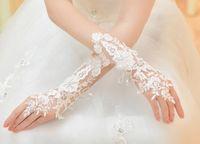 Cheap Bridal Gloves Wedding Accessory Best Below Elbow Length Fingerless Lady Wedding Gloves