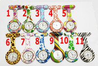 Wholesale Hot Selling colorful Prints Doctor Watch Silicone Quartz Nurse Watch with Pin Holiday Gift Fast Shipping