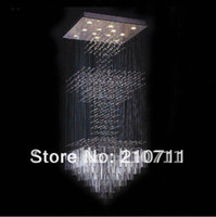 Modern 12v LED Free Shipping! modern square crystal chandelier lighting,crystal lamp,large chandelier