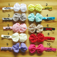 Headwear Yes Solid Newest Baby Hair Product Big Chiffon Bowknot Headband Girls Photo Props 50pcs lot Freeshipping FDB130