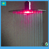 Wholesale 3pcs New Design latest collections King Exclusive LED Shower Head Stainless Steel mirror
