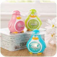 Wholesale F028 genuine penguin cool summer handheld electric fan portable mini fan small fan