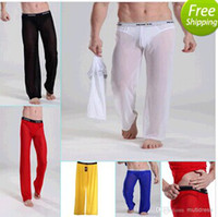 Silk 92% Polyamide + 8% Elastane Sexy Transparent Sexy Sexy Men's Underwear Male See-through Mesh Lingerie GYM Causal Long Trousers Pants Transparent Shorts Hot Bottoms New Comfy US Size S M L 66