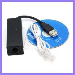 Fax Modem USB Ethernet 56K Dial hacia arriba de voz, de datos V.90 externo, V.92 para Windows 98 SE / ME / 2000 / XP / 7