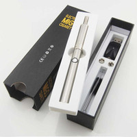 Single Silver Metal electronic cigarette Migo 2 in 1 mini herbal and wax vaporizer pen kit dry herb wax vapor atomizer and e smart e cigarette cig battery