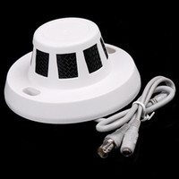 Wholesale New Hidden Smoke Detector Digital CCTV Video Miniature Camera Home Security COMS mm White F1089B