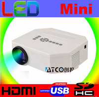 Wholesale Freeshipping UC30 Home Theater D Cinema lumens support P HD HDMI USB Digital Multimedia LCD LED Mini Portable pocket Projector