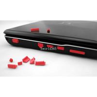 Wholesale 50pcs Laptop Notebook Ports Cover Set Silicone Anti Dust Plug Stopper colors Cx81