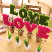 Wholesale H074 Korea creative stationery office supplies ballpoint pen pots LOVE Gift Ideas