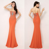 New Arrival In Stock AJ015 Crystal Cheap Backless Long Celeb...