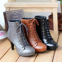 Ankle Boots Knight Boots Women Autumn Leather Women Shoes Winter Boots New Arrive Pumps High Heels Ankle Boots 2014