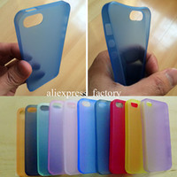 al por mayor cubierta delgada iphone5-Caso del iPhone 5 5S, piel fina clara transparente mate ultra fina fina del caso de la cubierta de los PP de 0.3mm ultra finos para iphone5 5S Envío libre MOQ: 10pcs