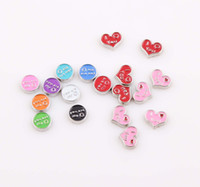 Charms Traditional Charm Circles, hearts Free Shipping! 2014 Hot Selling Floating Locket Charms Floating Glass Living Locket Charms Wholesale ZBE241