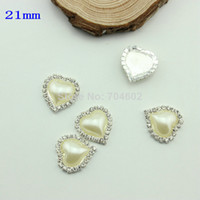 Quilt Accessories Buttons Yes Heart Rhinestone Button Diamante Pearl for Hair Flower Wedding Invitation Scrapbooking Napkin Ring 30pcs lot Freeshipping PJB10