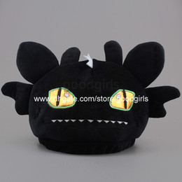 Wholesale 10pcs Anime Cartoon How to Train Your Dragon Toothless Night Fury Plush Hat Cosplay Hat Cap ANHT022