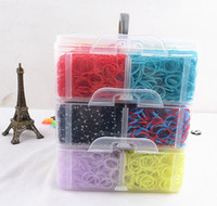Unisex 8-11 Years Multicolor New arrival 12000pcs rainbow Rubber Loom Band Kit Kids DIY Bracelet Silicone Loom Bands 3 layers PVC Box Family Loom Kit Set Refills