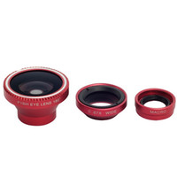 Universal   Universal 3in1 Fisheye Lens + Wide Angle lens + Micro Lens photo for iPhone 4 4s 5 5s 5c, iPad Samsung, HTC for all mobile phones Camera