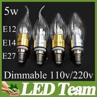 Wholesale chandelier bulbs E27 E14 E12 Led Candle bulb led lamps Light Energy saving lamps led lighting W SMD leds New Arrival on sales