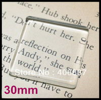 Wholesale 50pcs Good Quality mm Flat Square Transparent Clear Magnifying Glass Cabochon