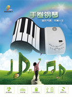 Wholesale Hot Fashion Key Keys Digital Roll up Soft Keyboard Piano electronic organ keyboard flexible roll up electronic keyboard for kid s gift