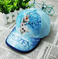 Wholesale 2014 Summer Snapbacks Childrens Brim Hats Frozen Olaf Top Baseball Caps Cheap Sun Caps Hot Sports Caps Outdoor Headwears Fashion Girls Hats