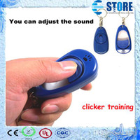 Wholesale Dog Pet Click Training Trainer dog clickers adjustable sound J