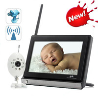 Wholesale 7 inch Color Video Wireless Baby Monitor Security Camera Way Talk Nigh Vision IR LED Temperature Monitoring