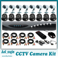 Wholesale cctv camera system ch dvr tvl cmos dome camera bullet camera waterproof with ir cut cctv camera system dvr kit